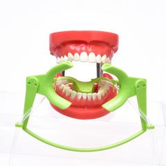 正畸开口器 吸唾管吸唾式开口器 扩口器可消毒 适美白 强力吸唾 绿色(小号)