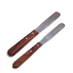 石膏调刀印模材调刀木柄调刀搅拌刀木柄金属搅拌刀石膏搅拌刀 2.0CM