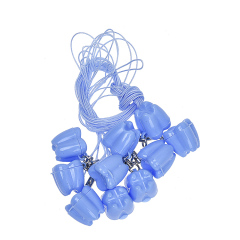 乳牙盒牙齿收藏盒牙齿造型带挂绳/挂链 塑料保存盒小巧方便 挂绳款