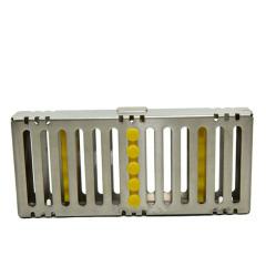 不锈钢牙科器械消毒盒天津瑞尔5支装器械盒高品质不锈钢包邮