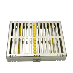 牙科不锈钢器械消毒盒10支装天津瑞尔器械盒不锈钢包邮