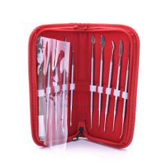 牙科技工蜡刀 蜡型工具套装 技工蜡型雕刻刀套包 牙科工具包 包邮