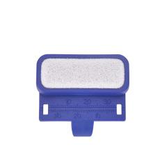 牙科指尺带清洁台 根管测量清洁台戒尺手指尺锉测量尺 两用测量尺 浅蓝色